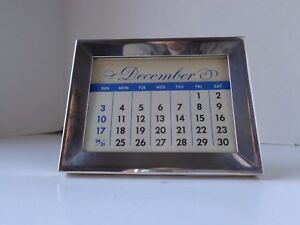 Vintage Rare Tiffany Co Sterling Silver Perpetual Desk Calendar 44 Grams 360