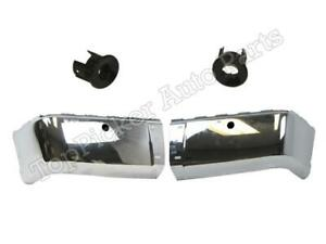 Rear Bumper Chrome End Sensor Retainer Housing 4pcs For Silverado 2008 2013