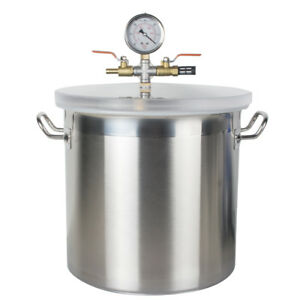 Us Ship 5 Gallon Stainless Steel Vacuum Degassing Chamber Vacuum Chamber W Pump