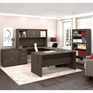 Logan Home Office Suite By Bestar Brown Finish