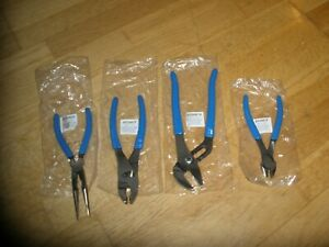 New Blue Point 4 Pc Set Of Bdg Pliers Cutters Bdgawp100 Bdg48cp Bdg86cp Bdg98cp