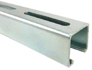 Long Slotted Standard 1 5 8 X 1 5 8 Strut Channel 304 Stainless Steel 12 Ga