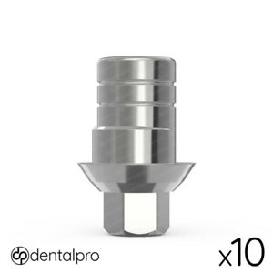 10x Anti rotational Cad cam Ti base Abutment Zirkonzahn Compatible Internal Hex