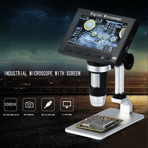 1000x Microscope 4 3 Monitor Magnifier Portable Led Lcd Electronic Digital C8o5h