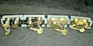 Lot Of 4 Used Sargent 4440 Series Safe Deposit Locks 3 Rh 1 Lh Great Condition