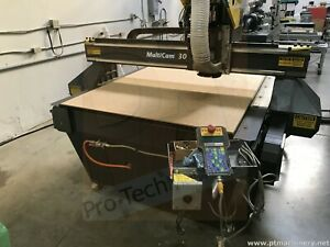 Multicam 4x8 Cnc Router 3000 Series With Vacuum Pump Automatic Tool Changer