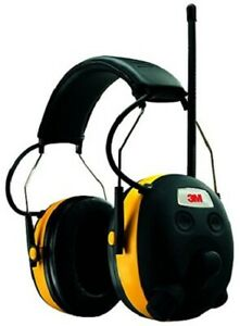 3m Peltor 90541 Digital Work Tunes Radio Earmuffs Black yellow Am fm Nrr22