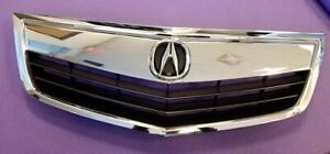 New Acura Tsx 2011 2014 All Chrome Grille Grill Whole Pc W Oe Emblem