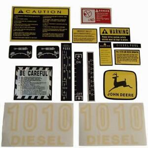 Jd1010 Hood Safety Decal Set For John Deere Tractor 1010