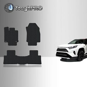 Toughpro Heavy Duty Black Rubber Custom Fit For 2019 Toyota Rav4 Floor Mats