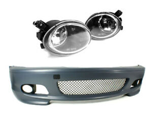 M tech Ii Style Bumper W Clear Foglights For 2000 2006 Bmw E46 3 series 2dr