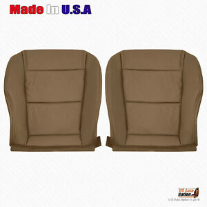 For Driver And Passenger Bottom Tan Seat Leather Cover 2001 2002 2003 Acura Mdx