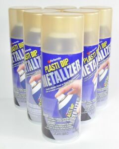Performix Plasti Dip Metalizer Gold 11oz Aerosol Spray Can 6 Pack