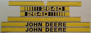 Decal Hood Set Fits John Deere Parts Jd2640 2640