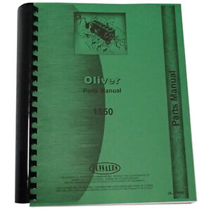 New Oliver 1850 Tractor Parts Manual