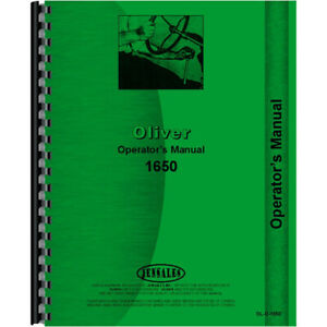 New Oliver 1650 Tractor Operators Manual