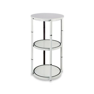 41 7 Round Portable Aluminum Spiral Counter Display Case With Clear Panels