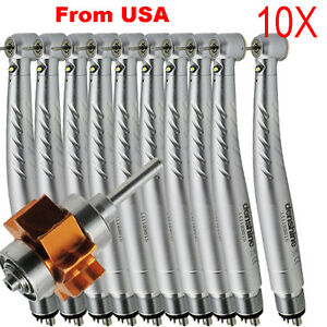 10x Dental High Speed E generator Fiber Optic Handpiece Large Torque 3w 4 h usa