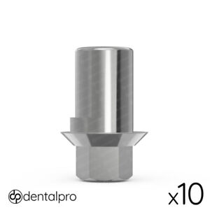 10x Anti rotational Cad cam Ti base Abutment For Amann Girrbach Internal Hex Sp