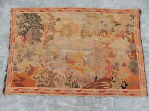 17thc French Beautiful Aubusson Verdure Tapestry 174x119cm