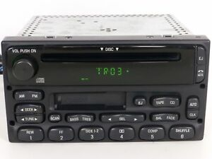 Ford Mercury Oem Unit Radio Cd Disc Cassette Tape Stereo Player Receiver