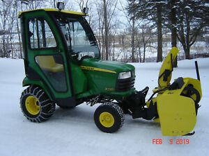 John Deere Tractor With Cab And Snowblower Extremely Low Hours 86