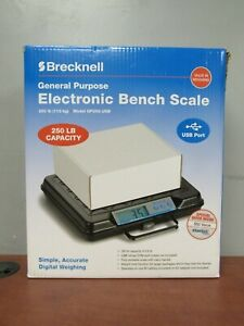 Brecknell Gp250 usb General Purpose Electronic Bench Scale 250lb Capacity 35fl