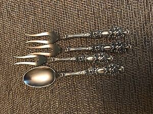 Th Marthinsen Epn 8 40 Norway Antique Electro Plated Nickel Sliver