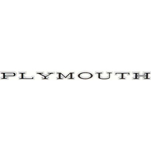 Plymouth Hood Or Trunk 8 Piece Individual Letter Set For 1966 71 Plymouth M