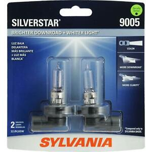 2pk Sylvania Silverstar 9005 Hb3 65w Two Bulbs Head Light High Beam Replace