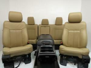 Ford Super Duty Seats F250 Console F350 F450 F550 F650 Leather Seat Set 08 2016