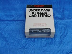 Nos Sparkomatic Under Dash 8 Track Car Stereo Tape Player