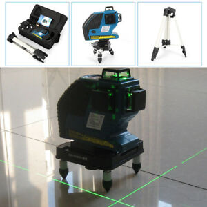 3d Green Laser Level 12 Line 360 Self Leveling Horizontal Vertical With Bracket