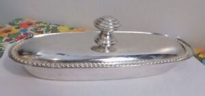 Vintage Silver Plated Butter Dish Lid By Rr International Made In India
