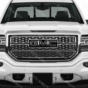 Front Grill Grille Emblem Badge Black For 2014 17 Gmc Sierra 1500 2500hd 3500hd