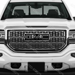 Front Grill Grille Emblem Badge Black For 2014 18 Gmc Sierra 1500 2500hd 3500hd