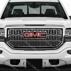 Front Grill Grille Emblem Badge Red For 2014 2017 Gmc Sierra 1500 2500hd 3500hd