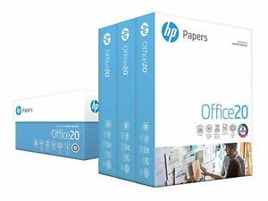 Hp Printer Paper Office20 8 5x11 Letter 92 Bright 1 500 Sheets 3 Ream Case