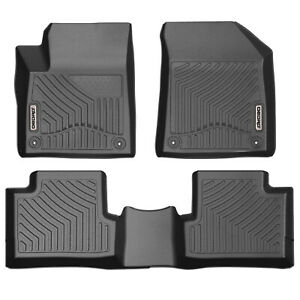 Oedro Floor Mats Fit For 2016 2019 Jeep Cherokee Full Set Liners Unique Tpe