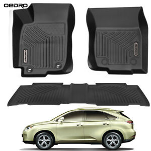 Oedro Floor Mats Fit For 2013 2018 Toyota Rav4 Black Full Set Liners All Weather