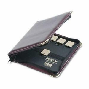 Steelmaster Zippered Key Case 24 key Leather like Burgundy mmf201502417