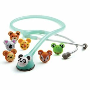 Adc 618sf Adscope Adimal Stethoscopes Pediatric 22 Seafoam With Adsoft Eartips