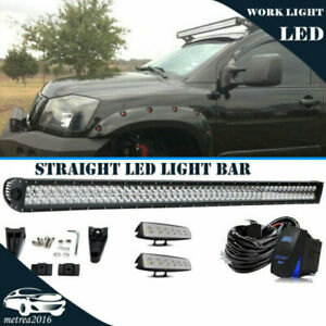 52inch Led Light Bar 700w Straight 2x 6 Pods For Ford 4x4 Offroad wiring