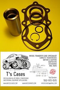 New Np205 Transfer Case Turbo 350 27 Spline Adapter Coupler Gasket seal Kit