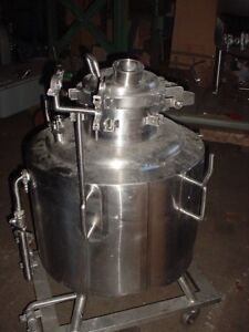 45 Gallon Stainless Steel Jacketed Reactor Fv 55 Psi 170 Liter