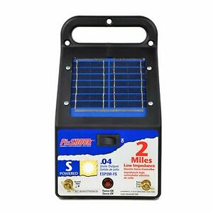 Fi shock Esp2m fs 2 mile Solar powered Electric Fence Charger