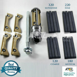 All Cylinder Engine Block Hone Kit 34mm 165mm Honing Machines 4x Honing Stones
