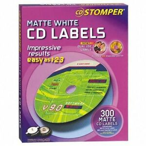 Avery 98122 Labels For Cd Stomper Cd dvd Labeling System White Matte 300ct