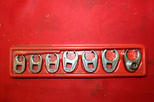 Snap On Tools 3 8 Drive 7 Piece Sae Flare Nut 6 Point Crowfoot Wrench Set P21
