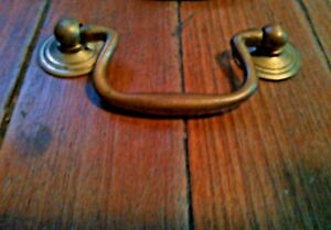 Vintage Chippendale Swan Neck Drop Bail Drawer Pulls Kbc